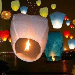 Lot of 20 Wish Paper Sky Lanterns
